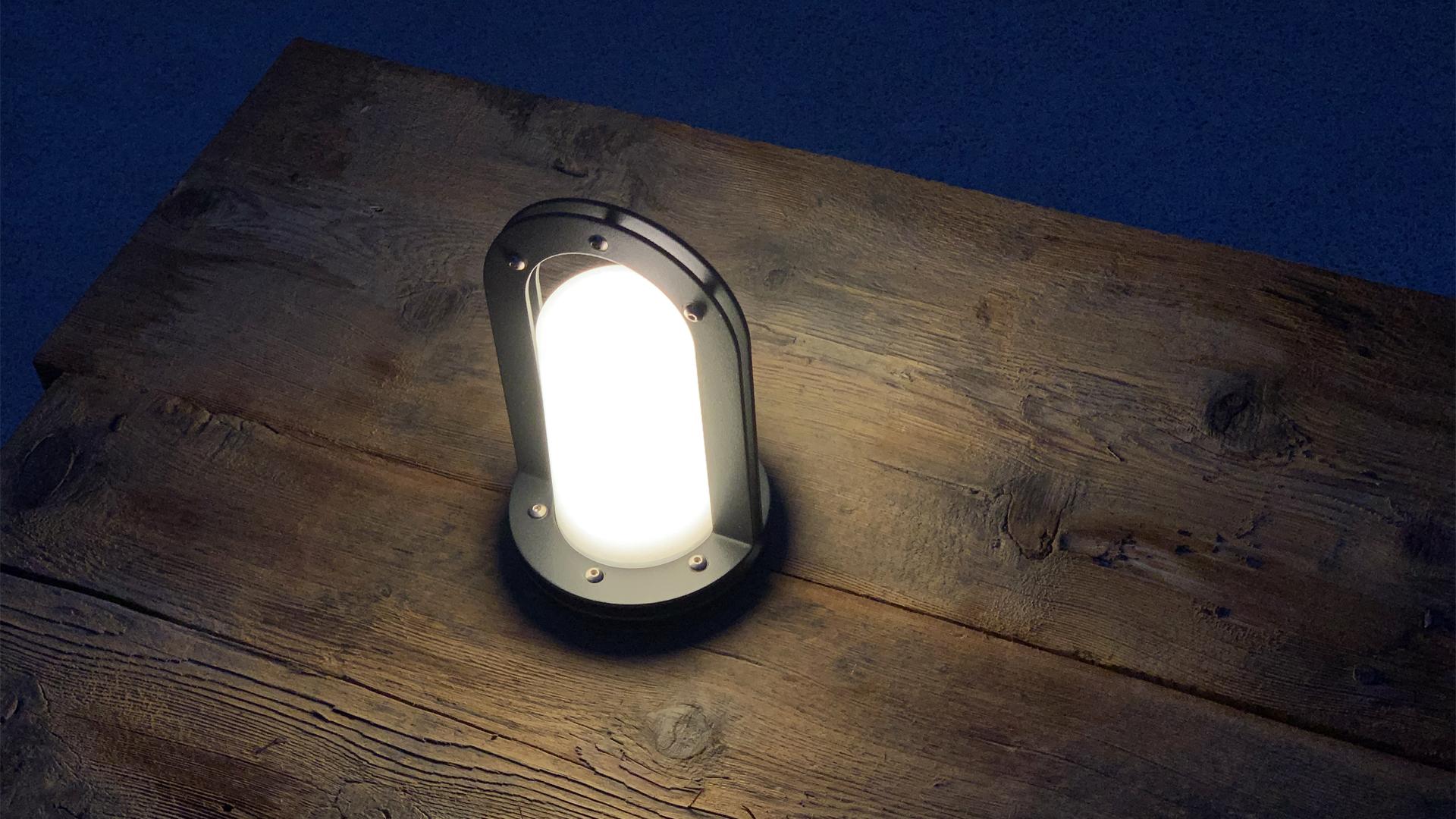 lampe autonome - lanterne ronde 002